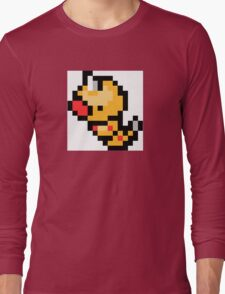 Pokemon 8-Bit Pixel Weedle 013 Long Sleeve T-Shirt