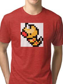 Pokemon 8-Bit Pixel Weedle 013 Tri-blend T-Shirt