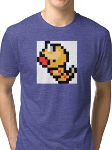 Pokemon 8-Bit Pixel Weedle 013 Tri-blend T-Shirt