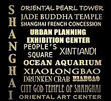 Shanghai Famous Landmarks by Patricia Lintner