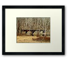 Old Railroad Bridge - Green Lane Reservoir PA Framed Print