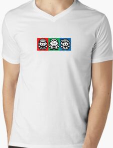 Pokemon Beginnings - Ash, Oak, Gary Red Blue Yellow Mens V-Neck T-Shirt