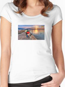 Gone Fishing with Ash Ketchum Women's Fitted Scoop T-Shirt