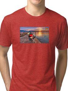 Gone Fishing with Ash Ketchum Tri-blend T-Shirt