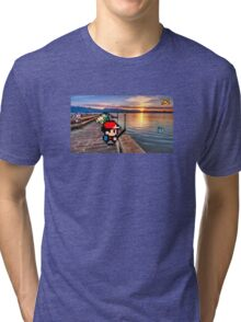 Gone Fishing with Ash Ketchum Tri-blend T-Shirt