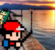 Gone Fishing with Ash Ketchum Sticker