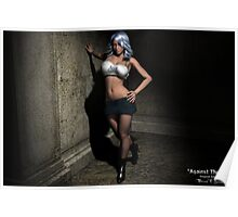Against the Wall - Sexy 3D Girl Poster