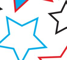 Red, White & Blue Stars Sticker
