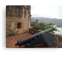 Cannon from Fort San Felipe in Puerto Plata, DR Metal Print