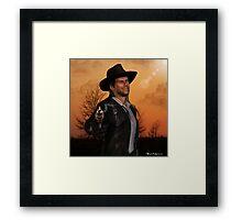 Tex - 3D Graphic Artwork Cowboy Western Outlaw Framed Print