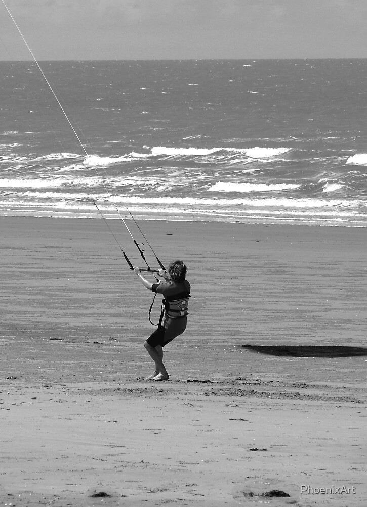 Kite Surfing Warmup - Yeppoon Queensland Australia by PhoenixArt