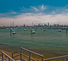 St Kilda Pier Boat Harbour by Tom Newman