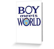 Boy meets world Greeting Card