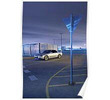 Silver Nissan R32 Skyline GTR #2 Poster