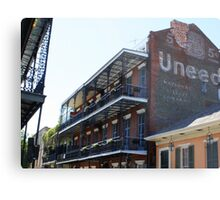 French Quarter Balconies Metal Print