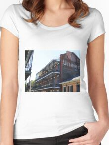 French Quarter Balconies Women's Fitted Scoop T-Shirt