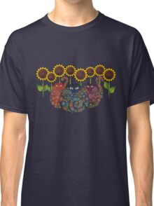 Cats With Sunflowers Classic T-Shirt