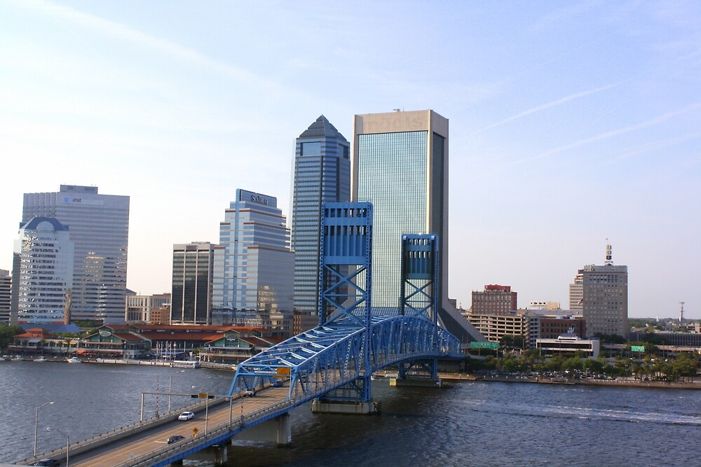 Blue Bridge Jacksonville Florida by Yajhayra Maria