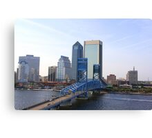 Blue Bridge Jacksonville Florida Canvas Print