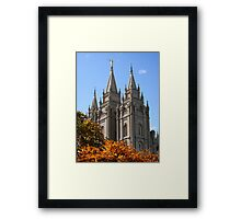 Salt Lake Temple - Autumn Afternoon Framed Print