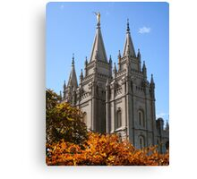 Salt Lake Temple - Autumn Afternoon Canvas Print