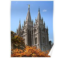 Salt Lake Temple - Autumn Afternoon Poster