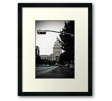 Capital Blues Framed Print