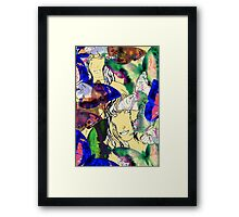 Two Imaginary Women and Abstracted Butterflies #1 Framed Print