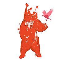Bear & Bird Photographic Print