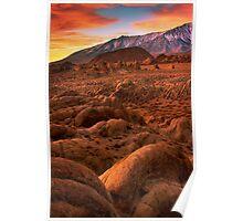 Martian Landscape Poster