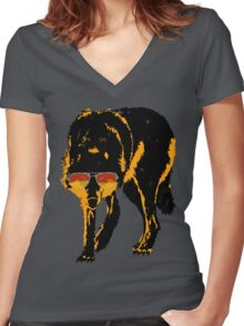 A Shady Wolf Women's Fitted V-Neck T-Shirt