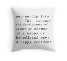 Serendipity  Throw Pillow