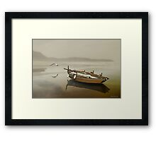 The solitude of the sea Framed Print