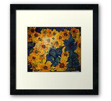 """Hey Vincent! More Sunflowers!!"" Framed Print"