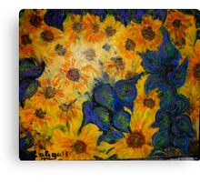 """Hey Vincent! More Sunflowers!!"" Canvas Print"
