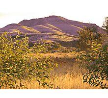 Evening Contrast - Mt Nameless Tom Price WA Photographic Print