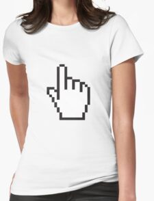 Select Hand Pixels Womens Fitted T-Shirt