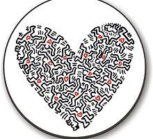 keith haring heart by briochina