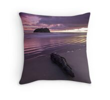 Charred purple dawn Throw Pillow