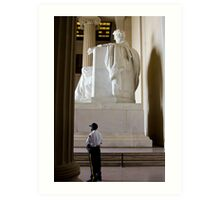 Secure with Lincoln  Art Print