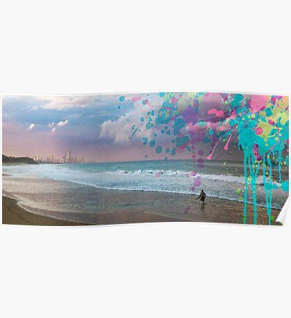 Storm Surfer Poster