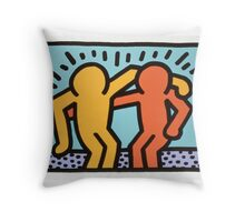 keith haring two Throw Pillow