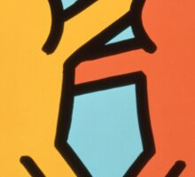 keith haring two Sticker