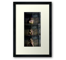 I can't help you if you need me to remove the mask Framed Print