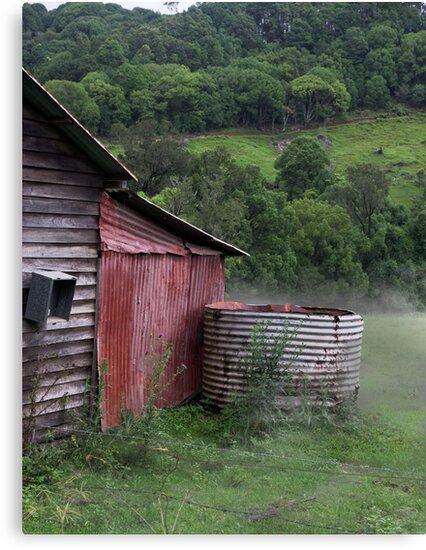 Currumbin Valley in the mist by flexigav