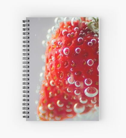 Strawberry Bubbles Spiral Notebook