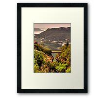 Vertigo - Cliff Walk  - Blue Mountains World Heritage Area, Sydney , Australia - The HDR Experience Framed Print