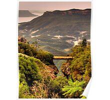 Vertigo - Cliff Walk  - Blue Mountains World Heritage Area, Sydney , Australia - The HDR Experience Poster