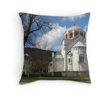 Monastery Studenica Throw Pillow
