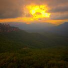 Light In The Valley - Blue Mountains World Heritage Area, Sydney Australia -The HDR Experience by Philip Johnson